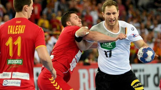 Handball: DHB-Team verpatzt Gruppenfinale:Remis gegen Mazedonien