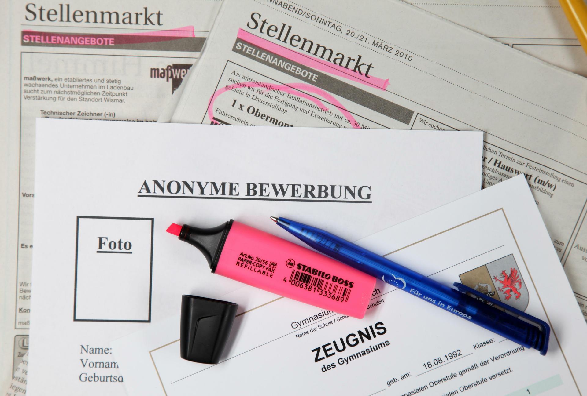 anonyme bewerbung das anonymisierte verfahren ist kein job garant - Anonymisierte Bewerbung