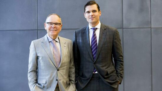 Don (links) und Alex Tapscott