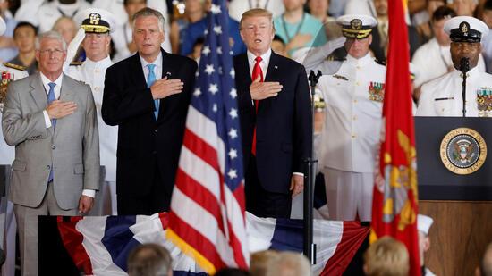 Trump weiht weltgrössten Flugzeugträger ein