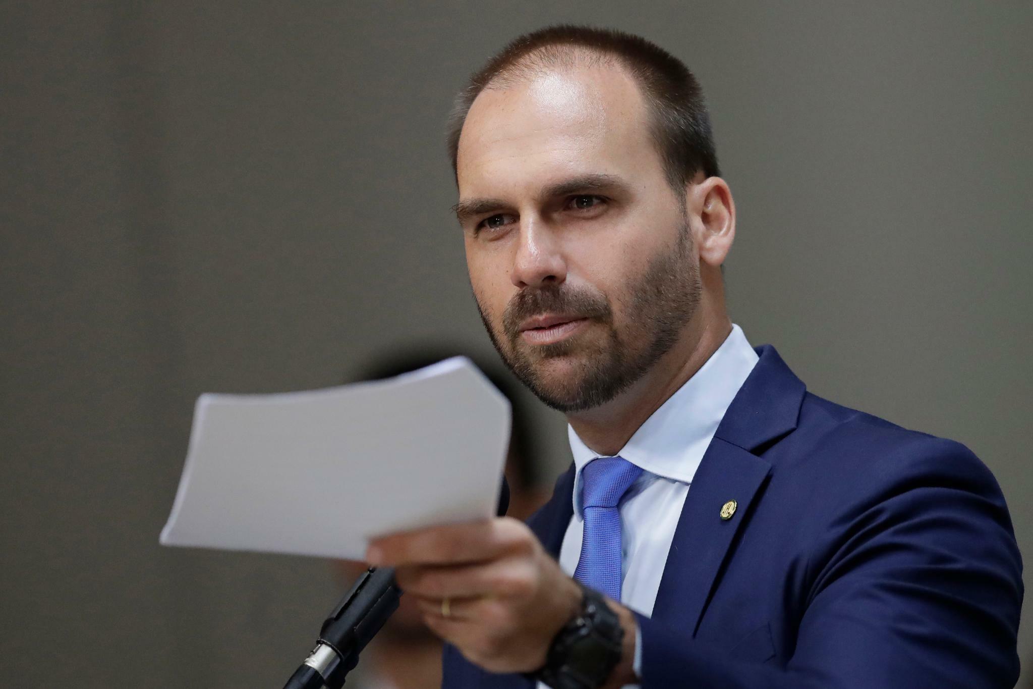 Brasilien Bolsonaros Sohn umwirbt deutsche Wirtschaft
