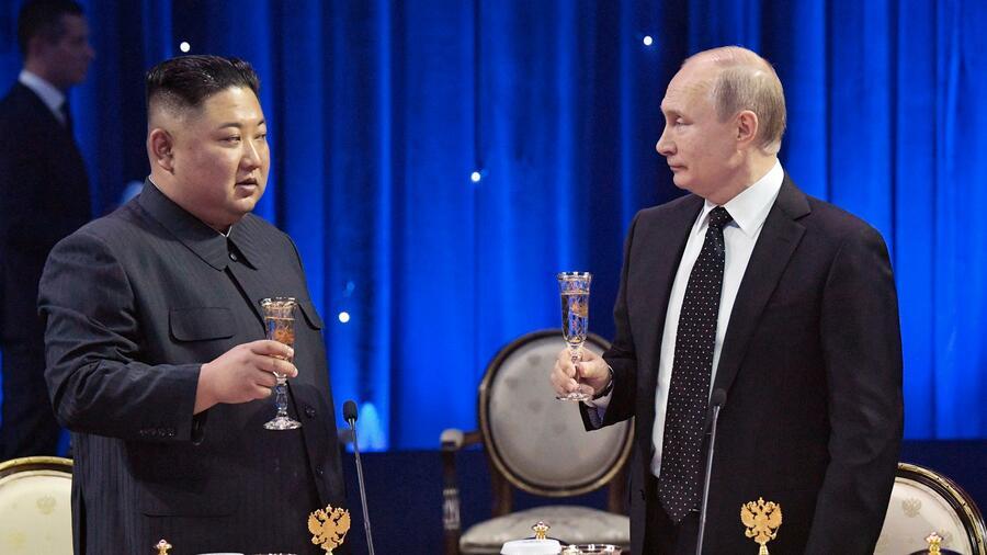 Nordkorea Und Russland Wladimir Putin Empfangt Kim Jong Un