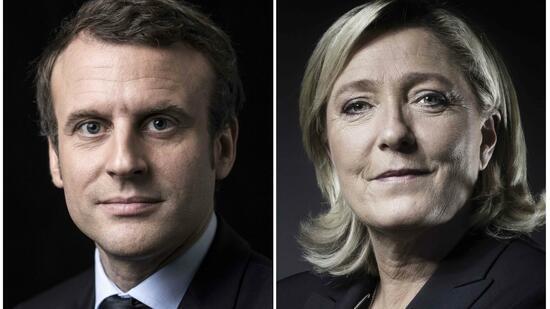 Erste Hochrechnungen: Macron und Le Pen in Stichwahl