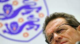 Englands Nationalcoach Fabio Capello kündigt seinen Abschied an. Foto: SID Images/AFP/Fabrice Coffrini Quelle: SID
