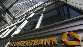 Der Eingang der Commerzbankzentrale in Frankfurt am Main. Quelle: Reuters