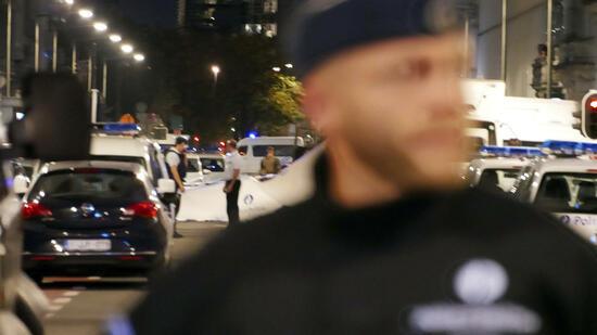 Soldat schießt in Brüssel auf Messerangreifer
