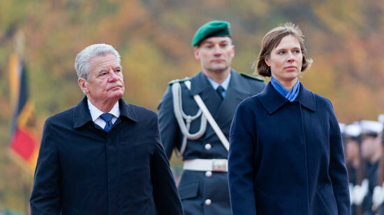 Estlands Präsidentin Kersti Kaljulaid in Berlin