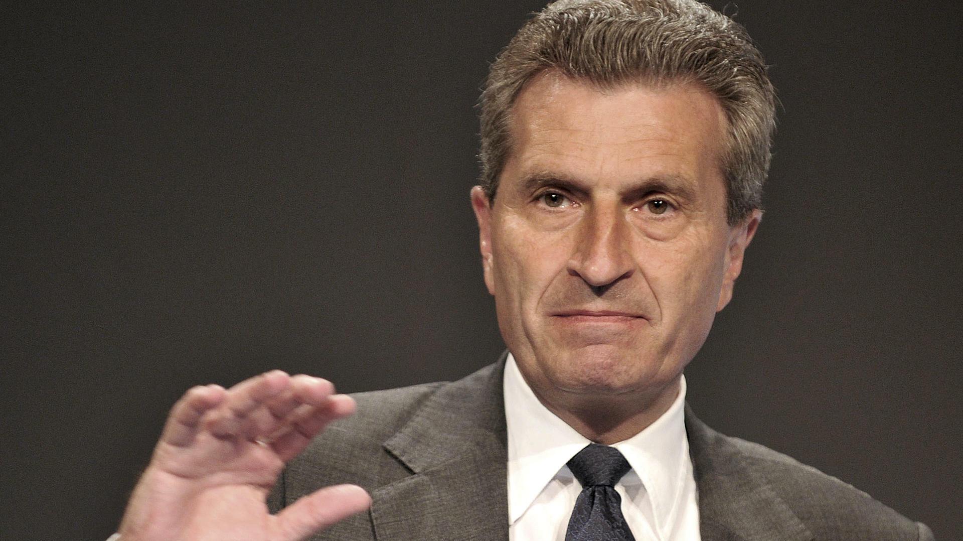 """Günther Oettinger: """"Ich bin verhalten positiv"""""""