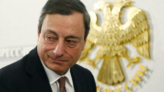 EZB-Chef Mario Draghi in Moskau. Quelle: Reuters