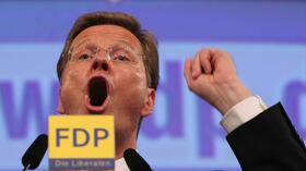 Westerwelle in Rostock. Quelle: dpa