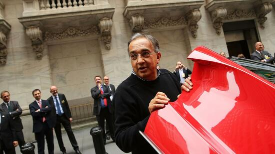 Fiat Chrysler Heads Marchionne And Elkann Celebrate Listing On NYSE