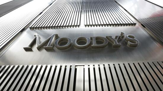 Das Moody's-Logo am New Yorker Hauptquartier der Rating-Agentur. Quelle: Reuters