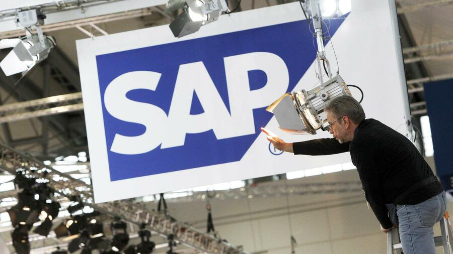 Das SAP-Logo auf der Computermesse CeBIT. Quelle: Reuters