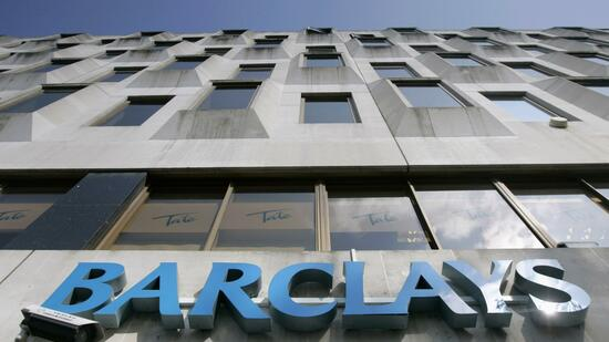 Barclays-Logo an einer Filiale in London. Quelle: Reuters