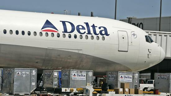Eine Maschine von Delta Airlines in Salt Lake City. Quelle: AFP