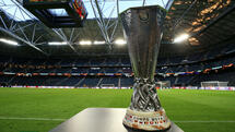 Der UEFA-Pokal steht am 23.05.2017 in der Friends Arena in Stockholm (Schweden). Manchester United trifft im Finale der UEFA Europa League am 24. Mai auf Ajax Amsterdam. Foto: Nick Potts/PA Wire/dpa +++(c) dpa - Bildfunk+++ Quelle: dpa