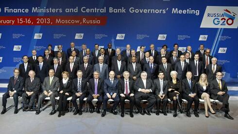 Das Teilnehmerfeld des G20-Gipfels in Moskau. Quelle: Reuters