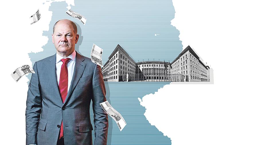 Cresce la pressione di Berlino su Deutsche Bank e Commerzbank.  Fonte: illustrazione Julius Brauckmann, Foto: J. Wresch / Agentur Focus, Ullstein bild [M]