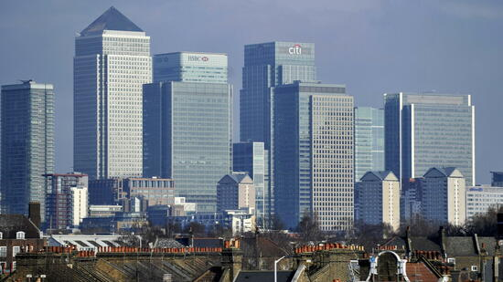 Finanzviertel Canary Wharf in London
