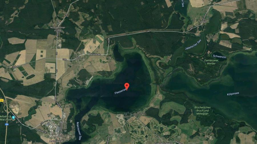 Nördlich des Gewässers sollen die beiden Jets abgestürzt sein. Bildquelle: Google