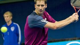 Florian Mayer steht im Finale des ATP-Turniers in Stockholm. Foto: SID Images/AFP/Jonathan Nackstrand Quelle: SID