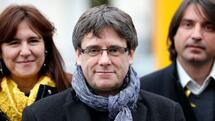 Former Catalan leader Carles Puigdemont attends a meeting with his party 'Junts per Catalunya' parliament group in Brussels, Belgium January 12, 2018. REUTERS/Francois Lenoir Quelle: Reuters