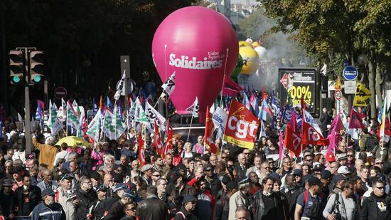Neue Proteste gegen Macrons Arbeitsmarktreform in Frankreich
