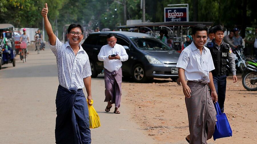 Myanmar lässt Reuters-Reporter frei