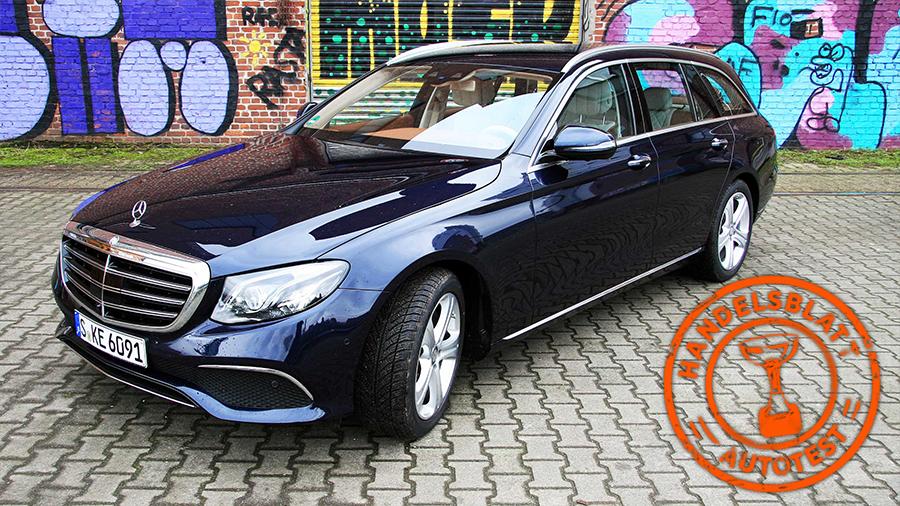 Mercedes E Klasse T Modell 220d Im Handelsblatt Test Ein