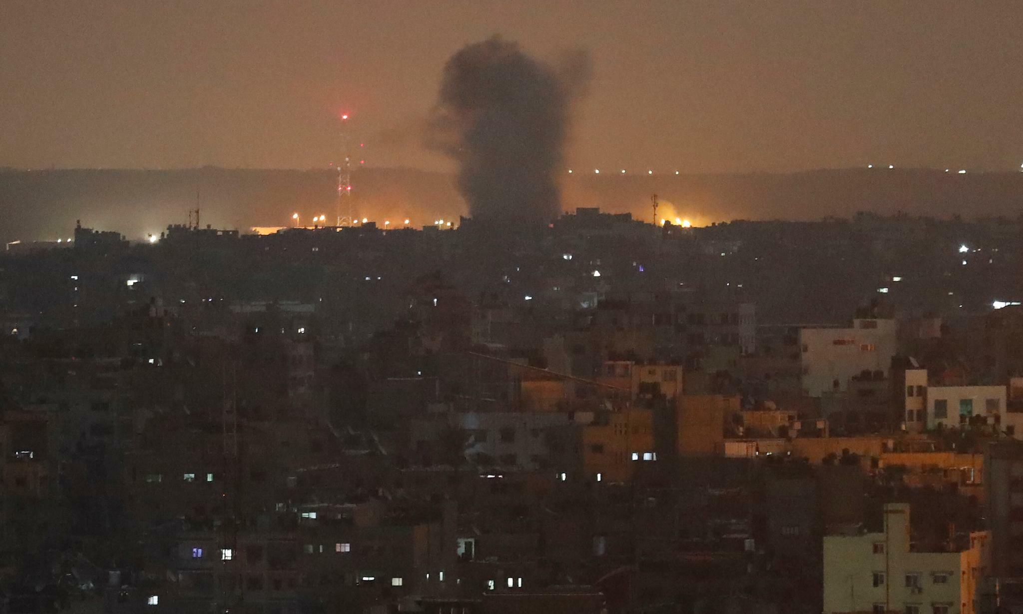 Israel fliegt Luftangriff auf Einrichtungen im Gazastreifen