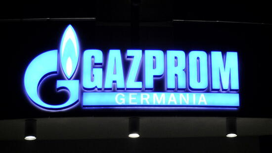 Gazprom-Logo in Berlin. Quelle: dapd