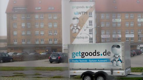 Der Firmensitz der getgoods.de in Frankfurt (Oder). Das Unternehmen meldete bereits Insolvenz. Quelle: dpa