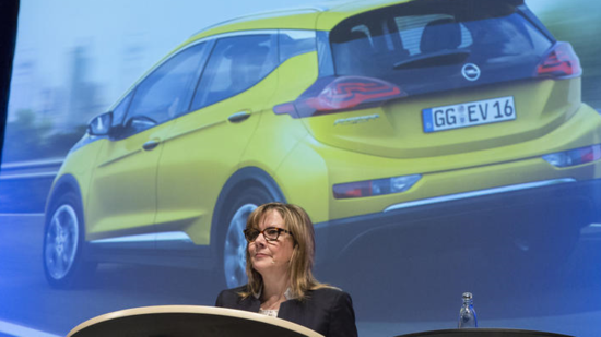 GM-Chefin Mary Barra in Bochum