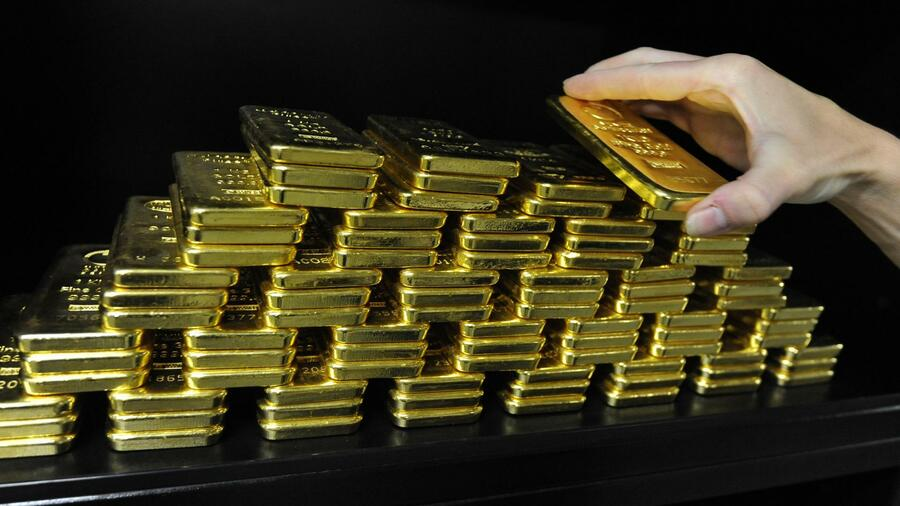 Edelmetall Gold Ist Der Glanz Ab