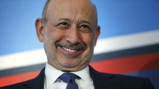 Goldman Sachs Group, Inc. Chairman and CEO Blankfein smiles as he participates in a panel discussion during the White House Summit on Working Families in Washington