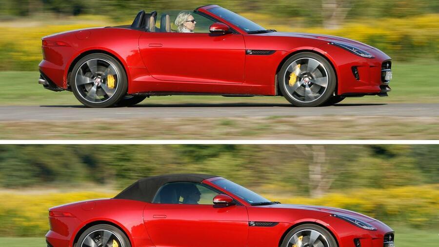 Test Jaguar F Type R Cabrio Awd Als Sei Der V8 An Gasballons Aufgehangt