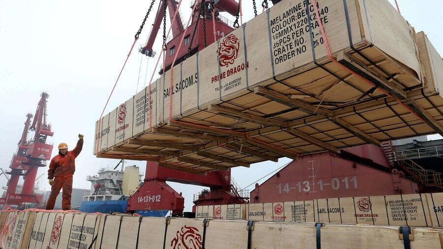 Von Chinas Exportwirtschaft profitiert auch der Hafen und die Region rund um Guangzhou. Quelle: REUTERS