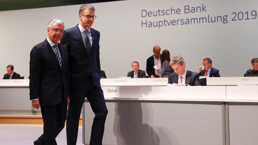 Paul Achleitner e Christian Sewing sono stati sollevati durante l'Assemblea Generale Annuale.  Fonte: Reuters