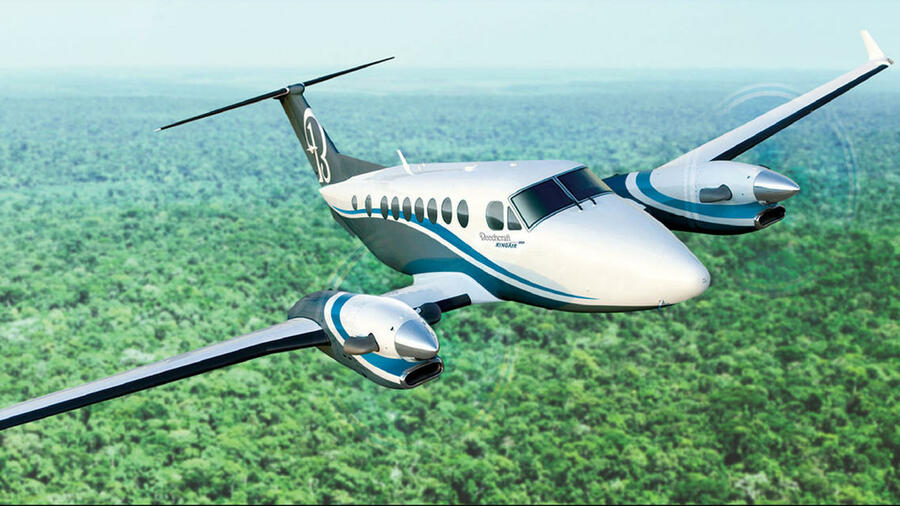 Das Modell Hawker Beechcraft King Air. Quelle: ap