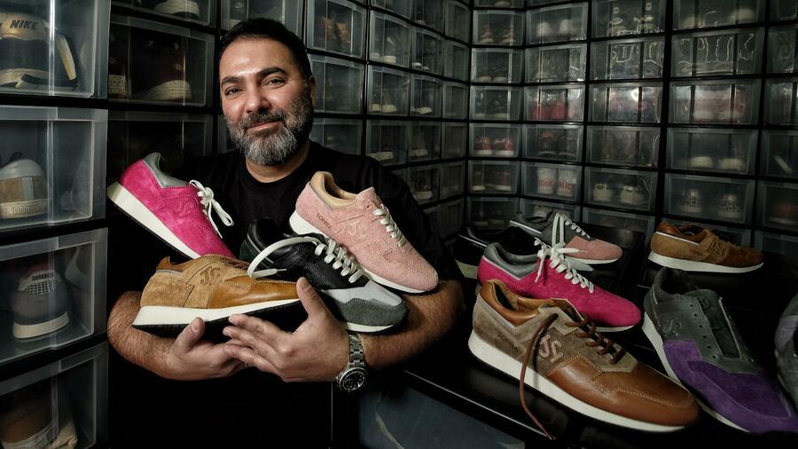 auf Sugoer Hikmet setzt Sneaker Pionier Handgenähtes R4Aj5L