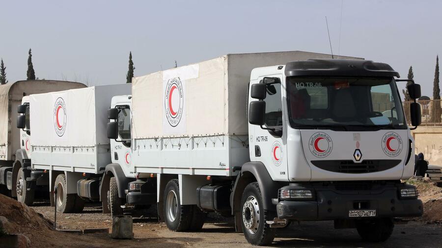 Hilfskonvoi erreichte Ost-Ghouta: UNO beklagt Beschuss