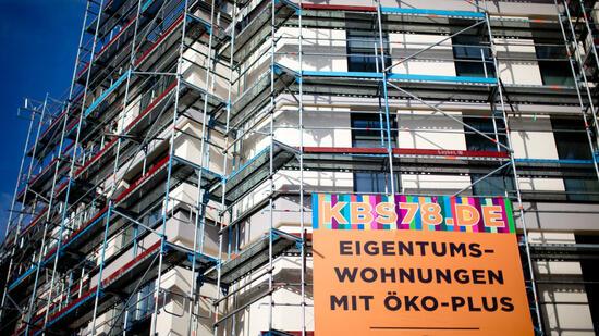 Rückgang von Baugenehmigungen für Wohnungen in Hessen