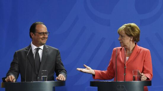 Hollande versus Merkel
