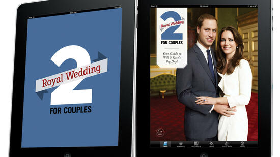 huGO-BildID: 21391662 In this image released by Toronto-based 2 For Life Media Inc., Thursday March 24, 2011, their iPad royal wedding app that lets users share marriage advice and wedding tips to the royal couple through a virtual guestbook is seen. More than a dozen smartphone apps are offering to bring fans everything royal wedding-related wherever they are _ so they can check the days and minutes until Prince William and Kate Middleton's April 29 wedding, hoard news and pictures about them and instantly share their favorite royal wedding tidbits on social media networks. (Foto:HO 2 For Life Media Inc/AP/dapd) EDITORIAL USE ONLY NO SALES Quelle: dapd