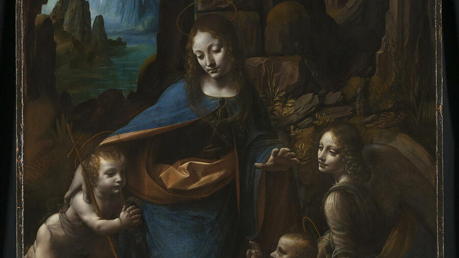 "Leonardo da Vinci, ""The Virgin of the Rocks"" (Ausschnitt) Quelle: © The National Gallery, London"