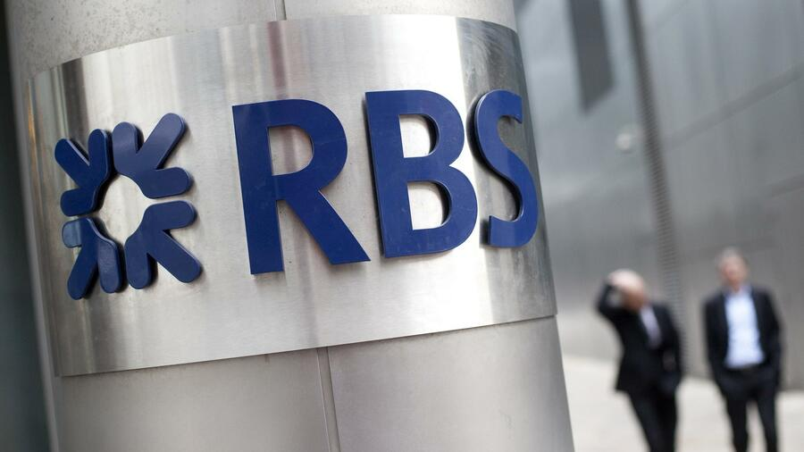 Die Royal Bank of Scotland (RBS) in London. Quelle: AFP