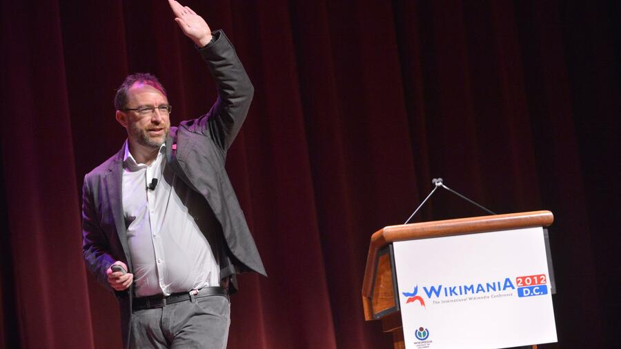 Wikipedia-Gründer Jimmy Wales auf der Wikimania 2012 in Washington DC. Quelle: AFP