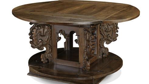 antiquit ten der clou beim renaissance tisch sind seine wangen kultur kunstmarkt panorama. Black Bedroom Furniture Sets. Home Design Ideas