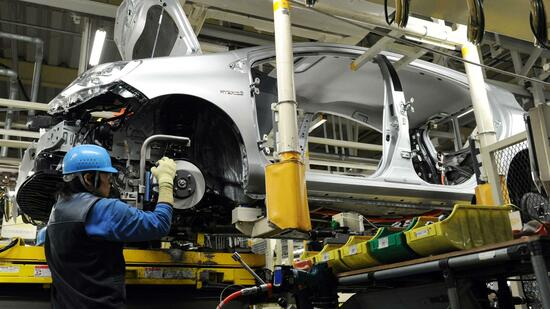 Die Industrieproduktion in Japan hat erneut nachgelassen. Quelle: AFP