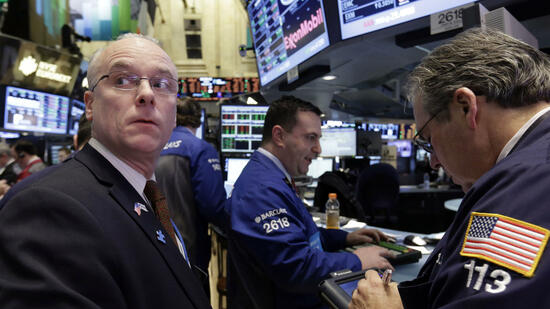 Händler an der Wall Street: Safety first? Quelle: ap